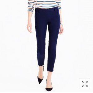 J. Crew Stretch Minnie Trouser Pants Women's Size 6 Navy Blue Career Wear Work